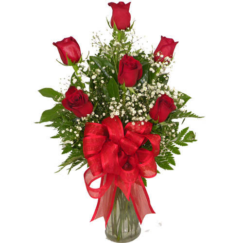 A Wylie Flower Shop exclusive. Sending a half-dozen of our finest Red Roses sets the tone for an afternoon or evening rendezvous. So be sure and plan ahead appropriately and enjoy.<br/><br/>